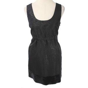 MICHAEL KORS Black Zebra Pattern Sequin Hem Dress